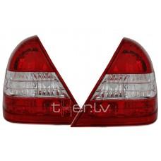 Mercedes w202 (93-00) aizmugurējie lukturi, red/crystal