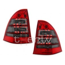 Mercedes w203 T-modell (00-04) LED aizmugurējie lukturi, red/smoked 2