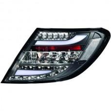 Mercedes w204 (11-) LED aizmugurējie lukturi, black/crystal