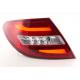 Mercedes w204 (11-) LED aizmugurējie lukturi, red/crystal
