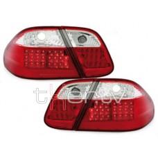 Mercedes w208 (97-02) LED aizmugurējie lukturi, red/crystal