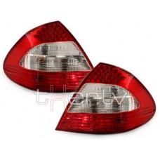 Mercedes w211 (02-06) LED aizmugurējie lukturi, red/crystal 2