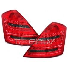 Mercedes w221 (05-09) LED aizmugurējie lukturi, red/smoked