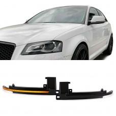 Audi dinamiskie pagriezienu rādītāji spoguļos LED, smoked