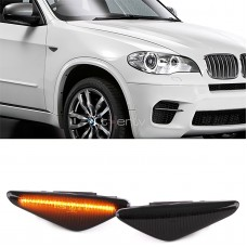 BMW e70, e71, f25, f26 dinamiskie LED pagriezieni spārnos, smoked