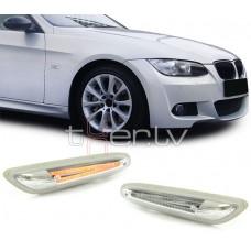 BMW e81/e82, e84, e87/e88, e90/e91/e92/e93 LED pagriezieni spārnos, hromēti