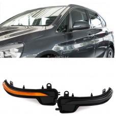 BMW dinamiskie pagriezienu rādītāji spoguļos LED, smoked 3