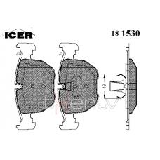 BMW e38, e39, e53, e83 ICER priekšējo bremžu kluču komplekts